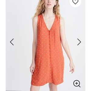 Madewell Heather Button-Front Dress in Polka Dot